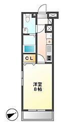 プレサンスmiu新栄[5階]の間取り