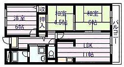 メゾン・ドゥ・ボヌール[2階]の間取り