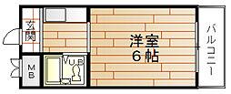 ルナカーサ[3階]の間取り