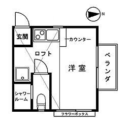ベネ田無[201号室]の間取り