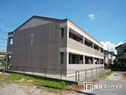 愛知県岡崎市岡町字保母境の賃貸アパートの外観