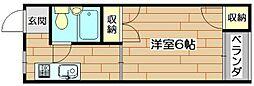 柳原第二パールマンション[3階]の間取り
