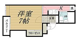 千葉県千葉市中央区長洲2丁目の賃貸マンションの間取り