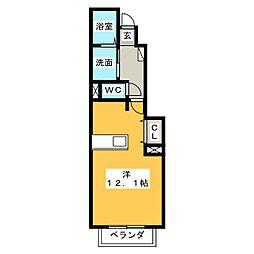 アイベルンC[1階]の間取り