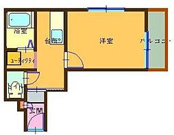東京都足立区小台2丁目の賃貸アパートの間取り