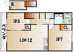 プランドール1[2階]の間取り