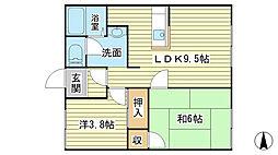 ハイツ前田[102号室]の間取り