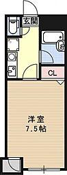 シャトー・ドゥ・フルール[303号室号室]の間取り