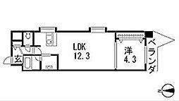 シャトー&ホテル名駅南1st[3階]の間取り