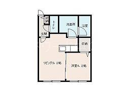 Chambre南郷(シャンブル南郷)[1階]の間取り