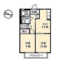 シャーメゾンMb.庄内[2階]の間取り