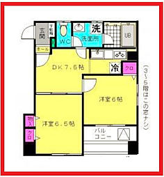 東京都台東区入谷2丁目の賃貸マンションの間取り