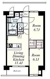 ネクステージ三萩野[1階]の間取り