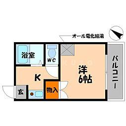 サンティール太子橋駅前[3階]の間取り