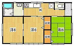[一戸建] 茨城県日立市田尻町5丁目 の賃貸【/】の間取り