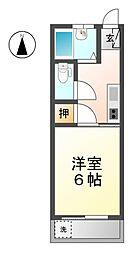 愛知県稲沢市稲沢町の賃貸マンションの間取り