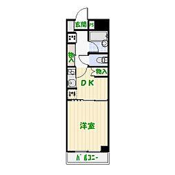 ロイヤルクレセント[3階]の間取り