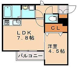 スローライフ井尻[1階]の間取り