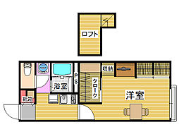 福岡県福岡市早良区四箇1丁目の賃貸アパートの間取り