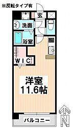 愛知県名古屋市瑞穂区東栄町3丁目の賃貸マンションの間取り