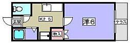 フラッツ ヤナセ[1階]の間取り