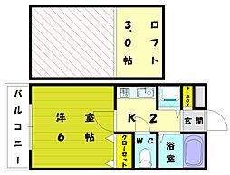 コムハウス和白東[2階]の間取り