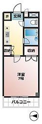 東京都調布市国領町5丁目の賃貸マンションの間取り