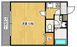 エイトリーブス[2階]の間取り