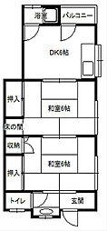 戸村アパート[202号室]の間取り