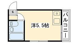 岡本ビラ[205号室]の間取り