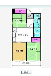 千葉県松戸市西馬橋幸町の賃貸マンションの間取り