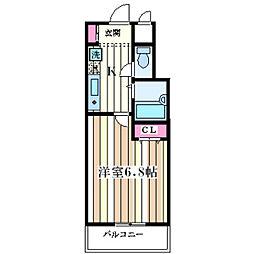 サンライズ大和田[5階]の間取り