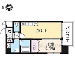 (仮称)アンフィニXVIIマローネ 7階1DKの間取り
