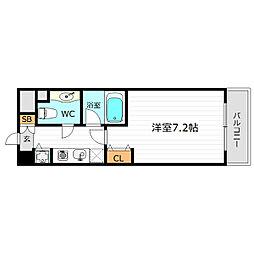 JR大阪環状線 京橋駅 徒歩2分の賃貸マンション 7階1Kの間取り