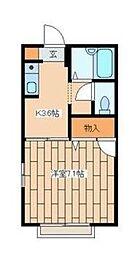 シャトレ―湘南[2階]の間取り