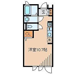 鴈荘[1階]の間取り