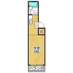 スタジオ大京[2A号室]の間取り