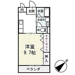 サンハイム永新B棟 2階[202号室]の間取り