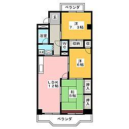 グランデール鶴田[2階]の間取り