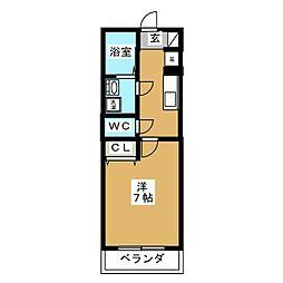 アビターレ[3階]の間取り