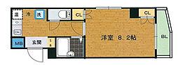 ブランネージュ四条大宮[6階]の間取り