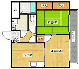 ユーハウス[3階]の間取り