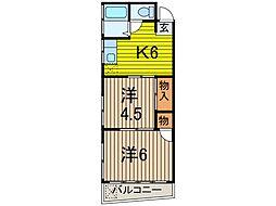 松川マンション[2階]の間取り