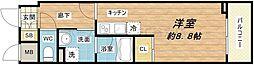 アスヴェルタワー大阪城WEST[5階]の間取り