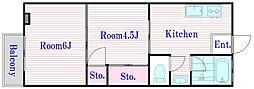 サン常盤台ハイツ[1階]の間取り