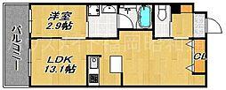アーバンローズ薬院[10階]の間取り