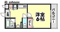 大阪府高石市取石3丁目の賃貸アパートの間取り