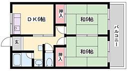 エクセレント宝殿3号棟[413号室]の間取り