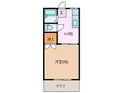 三重県四日市市阿倉川町の賃貸アパートの間取り