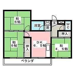 ハイツヨシダ[2階]の間取り